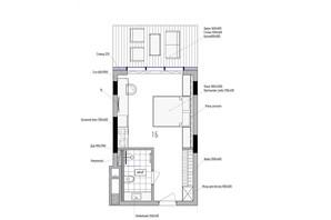 КА Le Meandre: планування 1-кімнатної квартири 24.9 м²