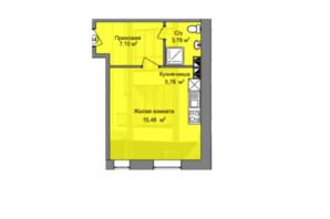 КБ Березинський: планування 1-кімнатної квартири 27.6 м²