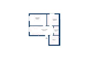 КБ Liverpool House: планування 2-кімнатної квартири 60.5 м²