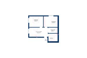 КБ Liverpool House: планування 2-кімнатної квартири 56.35 м²