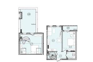 КБ На Кондукторській: планування 2-кімнатної квартири 81.16 м²