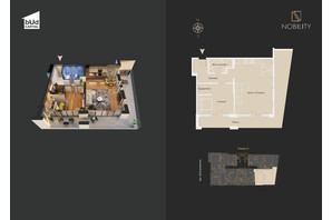 КБ Nobility: планування 2-кімнатної квартири 93.3 м²