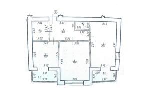 КБ по вул. Миру 58: планування 2-кімнатної квартири 79.9 м²