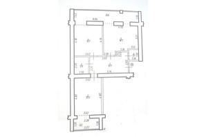 КБ по вул. Миру 58: планування 2-кімнатної квартири 88.8 м²