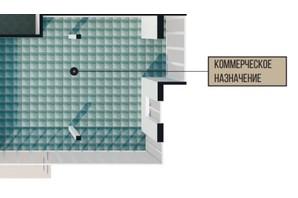 КД Crystal house: планировка помощения 83.78 м²
