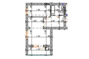 КД Дружный: планировка 1-комнатной квартиры 45.7 м²