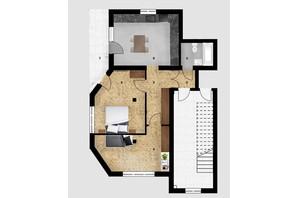 КД Дружний: планировка 2-комнатной квартиры 63.6 м²