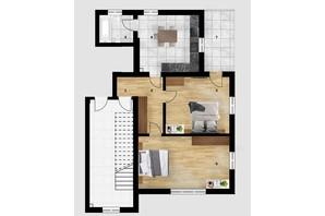КД Дружний: планировка 2-комнатной квартиры 65.8 м²