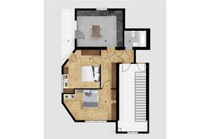 КД Дружний: планировка 2-комнатной квартиры 66.5 м²