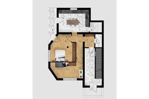 КД Дружний: планировка 2-комнатной квартиры 68.1 м²