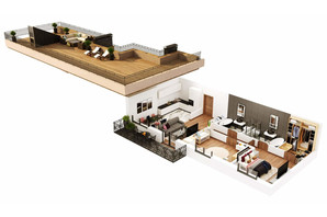 КД Корона Ренессанса: планировка 2-комнатной квартиры 124.65 м²