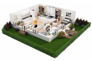 КД Корона Ренессанса: планировка 3-комнатной квартиры 146.08 м²