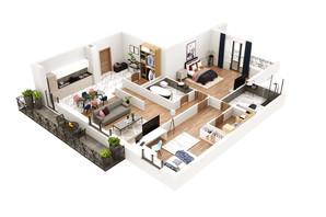 КД Корона Ренессанса: планировка 3-комнатной квартиры 130.49 м²
