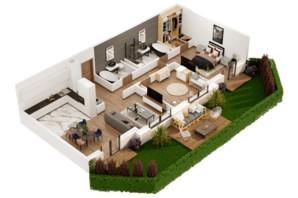КД Корона Ренессанса: планировка 2-комнатной квартиры 104.65 м²