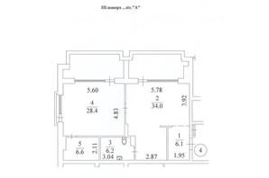 КД Liberty Residence: планировка 2-комнатной квартиры 106.2 м²