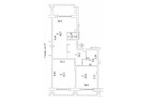 КД Liberty Residence: планировка 3-комнатной квартиры 148.4 м²
