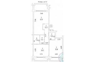 КД Liberty Residence: планировка 3-комнатной квартиры 151.9 м²