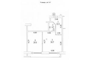КД Liberty Residence: планировка 2-комнатной квартиры 86.1 м²