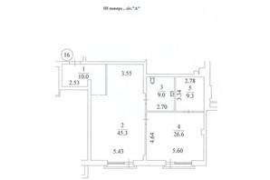 КД Liberty Residence: планировка 3-комнатной квартиры 101 м²