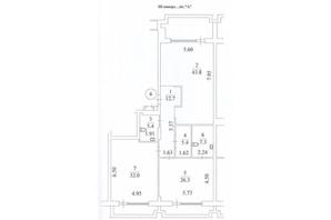 КД Liberty Residence: планировка 3-комнатной квартиры 150.5 м²