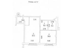 КД Liberty Residence: планировка 2-комнатной квартиры 101 м²