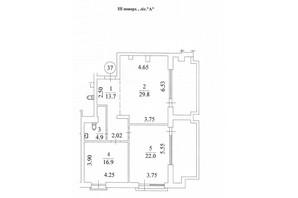КД Liberty Residence: планировка 2-комнатной квартиры 113.8 м²