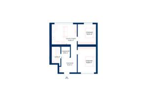 КД Liverpool House: планировка 2-комнатной квартиры 62.54 м²