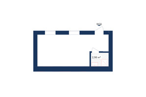 КД Liverpool House: планировка помощения 27.29 м²