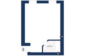 КД Liverpool House: планировка помощения 37.97 м²
