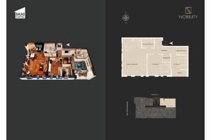 КД Nobility: планировка 3-комнатной квартиры 102 м²