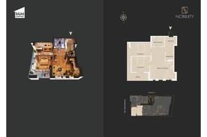 КД Nobility: планировка 3-комнатной квартиры 82.2 м²