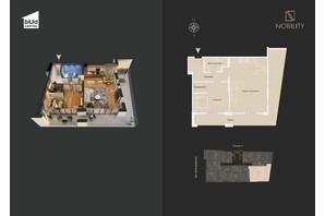КД Nobility: планировка 2-комнатной квартиры 93.3 м²