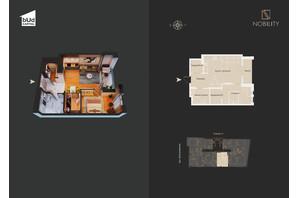 КД Nobility: планировка 2-комнатной квартиры 64 м²