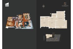 КД Nobility: планировка 3-комнатной квартиры 125.7 м²