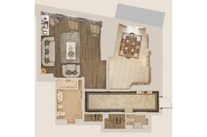 КД Патриарх Холл: планировка 1-комнатной квартиры 84.41 м²