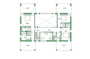 КГ Белгравия: планировка 5-комнатной квартиры 485 м²