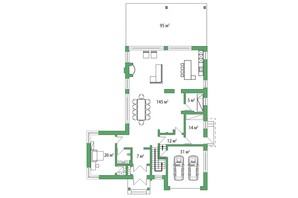 КГ Белгравия: планировка 5-комнатной квартиры 445 м²