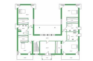 КГ Белгравия: планировка 5-комнатной квартиры 509 м²