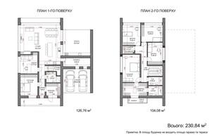 КГ Comfort Life Villas: планировка 5-комнатной квартиры 230.84 м²