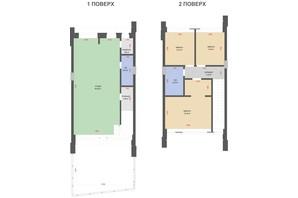 КГ Comfort Life Villas: планировка 3-комнатной квартиры 101 м²