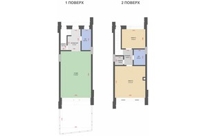 КГ Comfort Life Villas: планировка 2-комнатной квартиры 82 м²