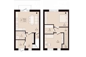 КГ Eurovillage 2: планировка 3-комнатной квартиры 83 м²