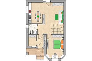 КГ Green city: планировка 5-комнатной квартиры 131.33 м²