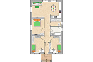 КГ Green city: планировка 3-комнатной квартиры 101.9 м²