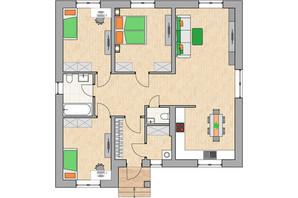 КГ Green city: планировка 3-комнатной квартиры 102.04 м²