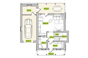 КГ Новая Александровка: планировка 3-комнатной квартиры 105 м²