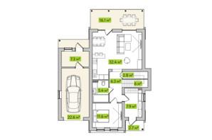 КГ Новая Александровка: планировка 4-комнатной квартиры 140 м²
