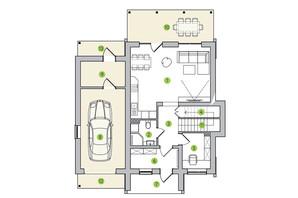 КГ Новая Александровка: планировка 5-комнатной квартиры 205 м²