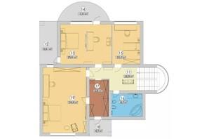 КГ Новая Березовка: планировка 6-комнатной квартиры 242 м²
