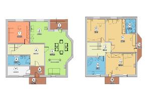 КГ Новая Березовка: планировка 5-комнатной квартиры 188.7 м²